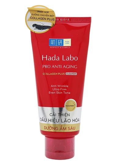 Review sữa rửa mặt chống lão hoá Hada Labo Pro Anti Aging Collagen Plus Cleanser