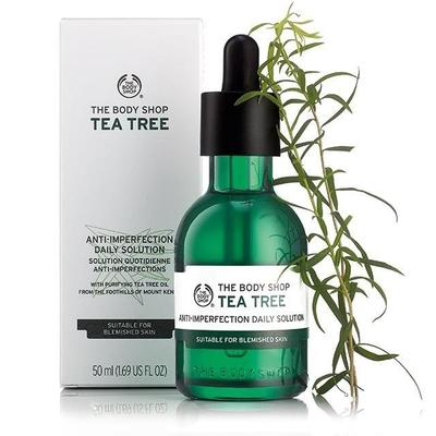 Review tinh chất trị mụn The Body Shop Tea Tree Anti-Imperfection Daily Solution cho mọi loại da