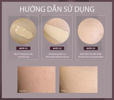 CÁCH SỬ DỤNG KEM NỀN THE FACE SHOP POWER PERFECTION