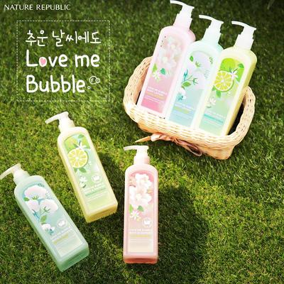 Review gel tắm Nature Republic Love Me Bubble Bath & Shower Gel Bergamot Citrus