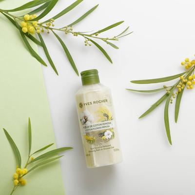 Review chi tiết gel tắm Yves Rocher Cotton Flower Mimosa Relaxing Bath And Shower Gel
