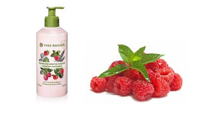 Review về sữa dưỡng thể Yves Rocher Raspberry Peppermint Body Lotion