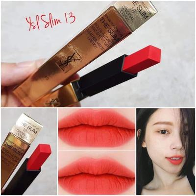 YSL ROUGE PUR COUTURE THE SLIM MÀU 13 ORIGINAL CORAL