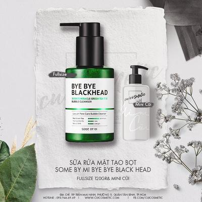 "Some By Mi Bye Bye Blackhead 30 Days Miracle Green Tea Tox Bubble Cleanser - ""khắc tinh"" của mụn đầu đen"