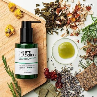 REVIEW SOME BY MI BYE BYE BLACKHEAD 30 DAYS MIRACLE GREEN TEA TOX BUBBLE CLEANSER