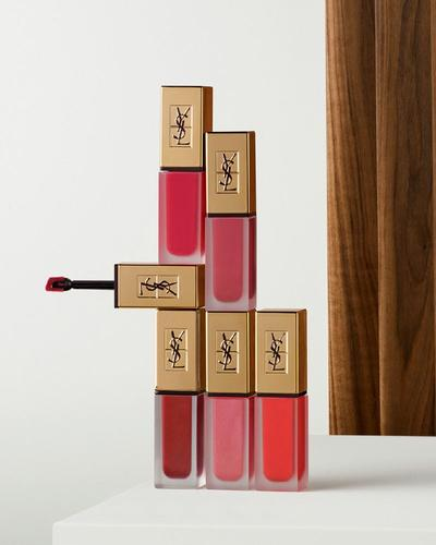 Review & Swatch dòng son high-end YSL Tatouage Couture Liquid Matte Lip Stain