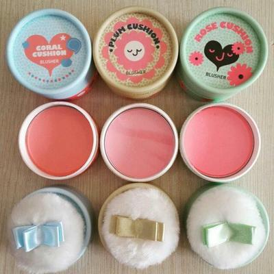 4- THE FACE SHOP PASTEL CUSHION BLUSHER - HỒNG TƯƠI TRONG TRẺO