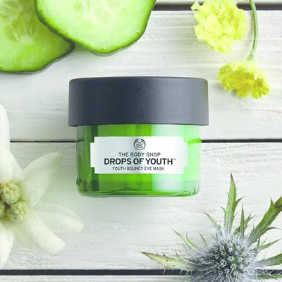 Review mặt nạ mắt The Body Shop Drops of Youth™ Youth Bouncy Eye Mask