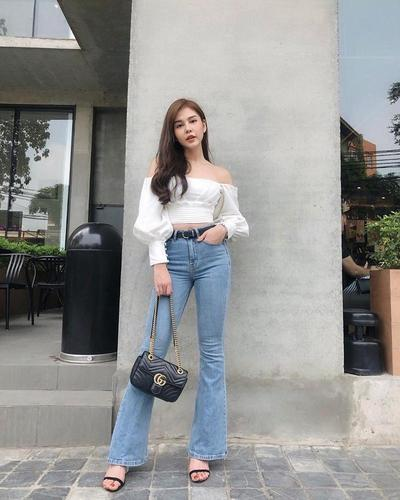 QUẦN JEANS ỐNG LOE