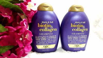 1.  DẦU GỘI OGX THICK AND FULL BIOTIN AND COLLAGEN